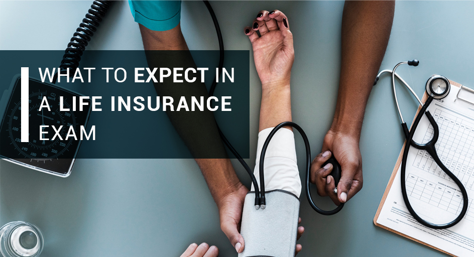blog image of a nurse giving a health check to medical patients; blog title: What to Expect in a Life Insurance Exam