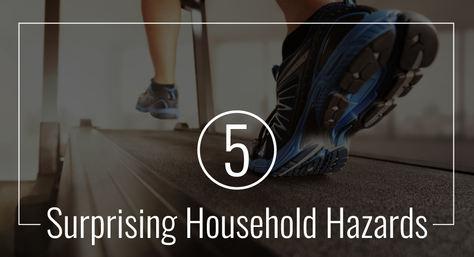 blog image of a person running; blog title: 5-Surprising-Household-Hazards
