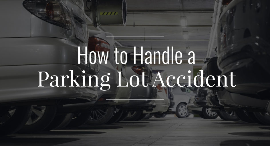 blog image of a parking garage filled with vehicles; blog title: How-to-Handle-a-Parking-Lot-Accident
